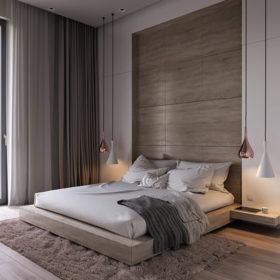 Mẫu giường ngủ tinh tế, sang trọng hoàn toàn có thể làm từ thanh gỗ thông pallet bản lớn