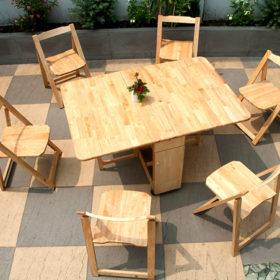 Bàn ghế xếp thông minh - thiết kế ấn tượng và đẹp nao lòng trong mọi không gian