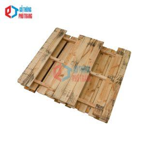 pallet gỗ thông 110cm x 130cm đố khuyết