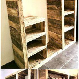 Kệ để đồ đa năng làm hoàn toàn từ gỗ thông dạng thô