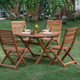 Mẫu bàn ghế gỗ thông sân vườn hoặc dùng cho quán cafe, resort...