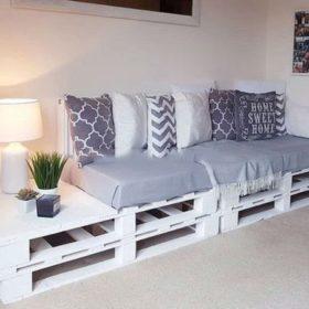 Ý tưởng làm ghế sofa từ gỗ thông dạng thô