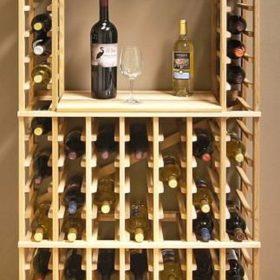 Gỗ thông là nguyên liệu ưa chuộng trong các thiết kế thùng chứa, kệ để rượu...