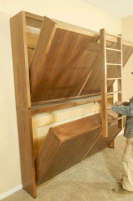 Mẫu thiết kế giường tầng thông minh có thể thu gọn cho những không gian nhỏ nhưng có nhiều người sử dụng