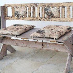 Ý tưởng thiết kế ghế từ gỗ thông theo phong cách vintage