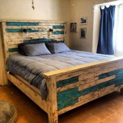 cách làm giường bằng pallet