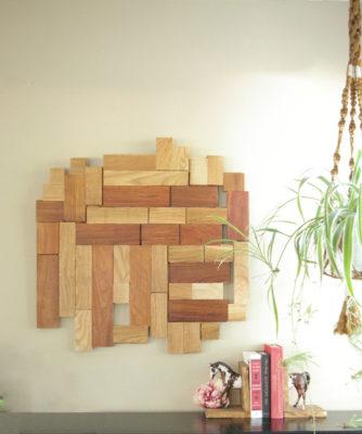 Khung tường gỗ trang trí trừu tượng